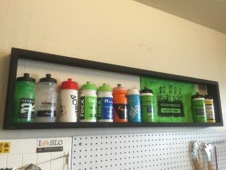 DIY Cycling Water Bottle Display Case