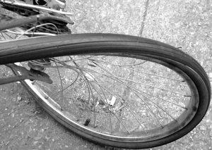 Broken bicycle by Sondra Stewart