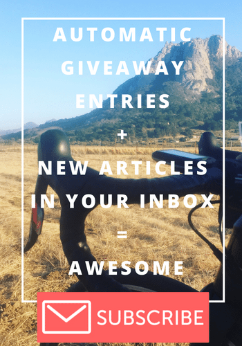 Subscribe to Email List SLO Cyclist Automatic Giveaway Entries